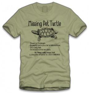 TMNT Missing Pet Turtle T-Shirt