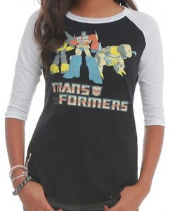 Transformers Girls Raglan Sweater