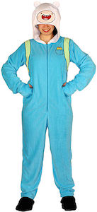 Adult Adventure Time Finn One Piece Pajamas Costume