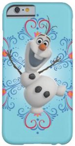 Frozen iPhone 6 case with Olaf the snowman on it