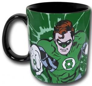 Green Lantern Mug with Image and Symbol