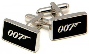James Bond 007 Rectangle Cufflinks