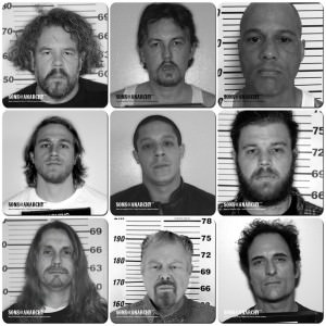 Sons of Anarchy Mugshot Coaster Set