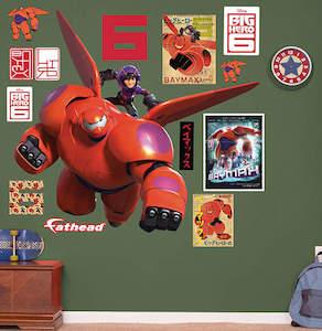 Disney Big Hero 6 Baymax And Hiro Wall Decal Set