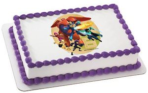 Dinsey Big Hero 6 Edible Cake Topper Image