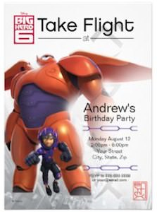 Big Hero 6 Birthday Invitation