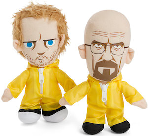 Breaking Bad plush dolls of Walter White and Jesse Pinkman