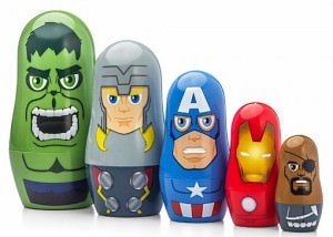 Marvel Comics Avenger Nesting Dolls