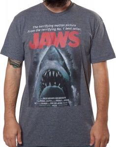 Spielberg Jaws Movie Poster T-Shirt