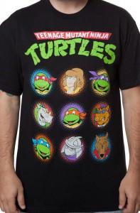 Teenage Mutant Ninja Turtles 9 Character T-Shirt