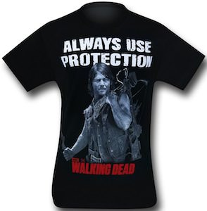 The Walking Dead Always Use Protection T-Shirt with Daryl Dixon