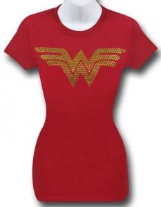 Wonder Woman Gold Bling T-Shirt