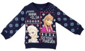 Disney Frozen Anna And Elsa Kids Christmas Sweater