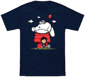 Big Hero 6 Meets Peanuts T-Shirt