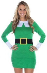 Elf Ugly Sweater Dress
