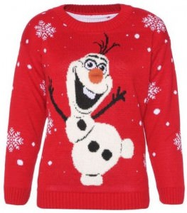 Frozen Christmas sweater with Olaf on the front