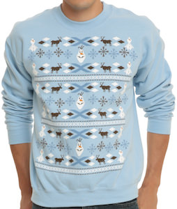 Disney Frozen Olaf Adult Size Christmas Sweater