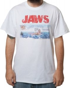 Jaws Amity Island Billboard T-Shirt