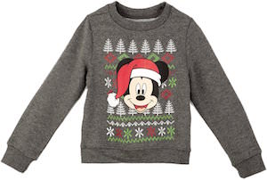 Disney Mickey Mouse Kids Christmas Sweater