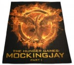 Mockingjay On Fire Fleece Blanket