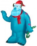 Monsters Inc Sully Santa Outdoor Inflatable