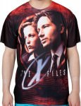 Mulder And Scully X-Files Sublimation T-Shirt
