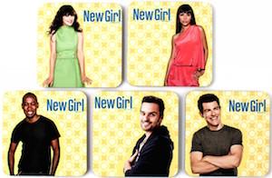 New Girl 5 Piece Cast Coaster Set