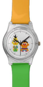 Pixel Bert and Ernie Watch