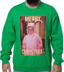 Ralphie Pink Bunny Christmas Sweatshirt