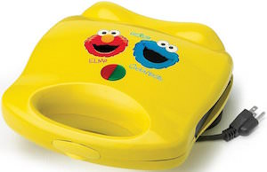 Sesame Street Elmo And Cookie Monster Waffle Maker