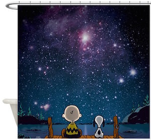 Peanuts Charlie Brown And Snoopy Shower Curtain