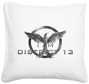 The Hunger Games I am District 13 Pillow With Mockingjay