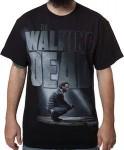 The Walking Dead Rick Grimes Black Logo T-Shirt