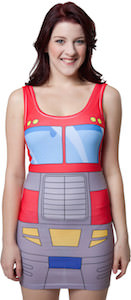 Transformers Optimus Prime Body Hugging Tank Top Dress