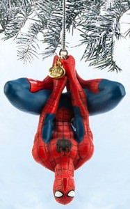 Upside Down Spider-Man Ornament
