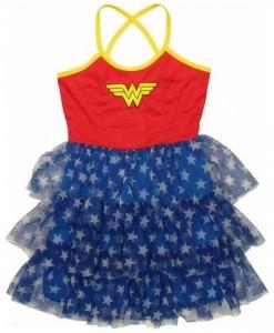 Wonder Woman Tiered Tutu Cami Mini Dress