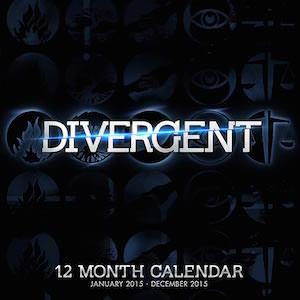 Divergent 2015 Wall Calendar
