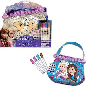 Disney Kids Frozen Anna And Elsa Coloring Handbag