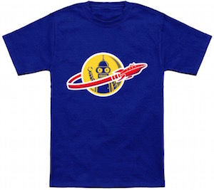 Futurama Bender Space Ship T-Shirt