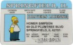 The Simpsons Homer Simpson Driver License ID Card