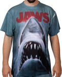 Jaws poster t-shirt with parts on the front and back