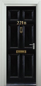 Sherlock Baker Street 221B Door Sticker