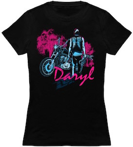The Walking Dead Daryl And His Bike Women's T-Shirt