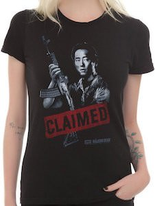 Walking Dead Glenn Claimed girls T-Shirt