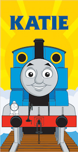 Thomas & friends Sunshine Personalized Beach Towel