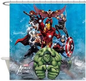 Marvel Avengers Assemble Team Shower Curtain