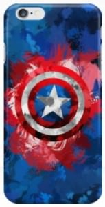Captain America Paint Splattered Shield iPhone Case