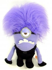Evil One Eyed Purple Minion Plush Doll