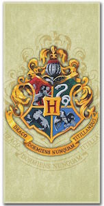 Harry Potter Hogwarts logo Beach Towel