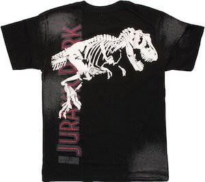 Jurassic Park T-Rex Skeleton T-Shirt